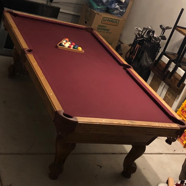 Brown and red billiard table MUST GO!