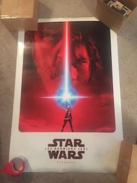 Star Wars the last Jedi official poster French Clark, 07066