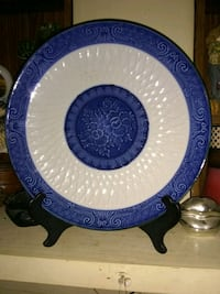 Blue and white plate  Petal, 39465