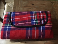 Red and blue picnic camping beach mat 51x59inch