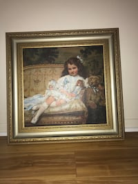Painting of girl on couch Raleigh, 27606