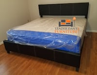 Brand new king size platform bed frame and pillowtop mattress  Silver Spring, 20902