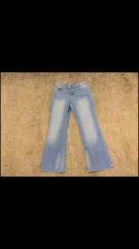 Girls size 12 Gap Boot Cut Jeans, Used Once