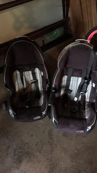 Toddler black and gray car seat carrier