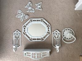 Wall white decoration set of 10 pieces