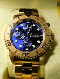 Invicta Watch  ~ Gold Tone with Blue Face  Lakewood, 90713
