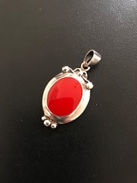 Red Coral Sterling Silver Pendant Arlington, 22204