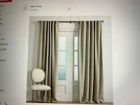 Ballard Design window panels - linen beige color Woodinville, 98077