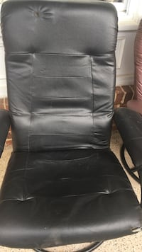 black leather office rolling armchair Sterling, 20164