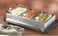 3-station Stainless Steel Buffet Server Bowie, 20720