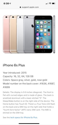 iPhone 6s Plus 64gb great condition. AT&T  rose gold Ashburn, 20147