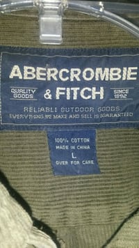 Nice men's abercrombie & fitch dk green button-down, large Woodbridge, 06525