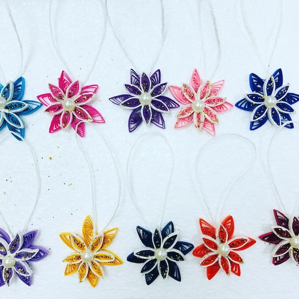 blue, yellow, pink, and red flower design accessories