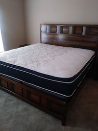 """BRAND NEW 4pc """"Walnut Parquet"""" Bed-Set. DELIVERY & ASSEMBLY Included!! Marietta, 30067"""