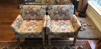 white and blue floral sofa chair Alexandria, 22308