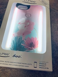 """Like NEW- Limited Edition """"Lumee duo"""" iPhone glow light up cell phone case (fits 6/6s/7/8)  Edmonton, T5Y 0L8"""