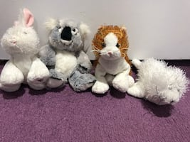 Various Webkinz stuffed animals
