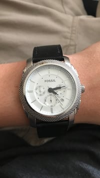 Fossil 5atm stainless steel with leather strap Saint Johns, 32259