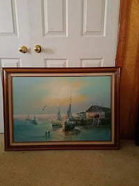 brown wooden framed boat near house painting Newport News, 23603