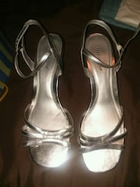 Womens, silver, high heel shoes, size 11 Cleveland, 37323