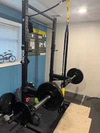 """Rogue 90"""" Monster Lite Squat Stand Rogue 43"""" Fat/Skinny Pullup Bars Silver Spring, 20904"""