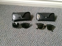 black framed Ray-Ban wayfarer sunglasses with case Pickering