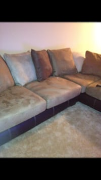 brown and black suede sectional couch Derwood, 20855