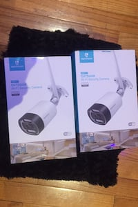 new wireless outdoor Wi-Fi security cameras still sealed in the boxS Toronto, M6K 1V1