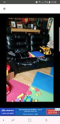 black leather couch screenshot Calgary, T2A 2B6