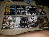 six assorted PS3 game cases Waterloo, N2J 2A2