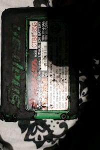Two Snap-on batteries one 18 volt one 12 volt
