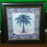 "Like new condition - 40"" x 40"" Palm Tree on canvas painting wall decor York, 29745"