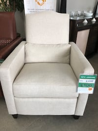 Ivory Linen Bronze Studded Recliner Fountain Valley, 92708