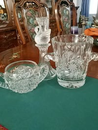 Crystal of 3: ice bucket, nuts bowl, candle Laval, H7G 1G2