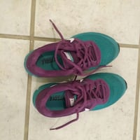 Adult pair of purple-and-green shoes for women. Ontario, M3H 3W5