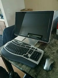 HP monitor with wireless keyboard