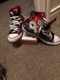 Pair of black converse all star high-top sneakers Houston, 77093