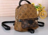 monogrammed brown Louis Vuitton leather backpack Coquitlam, V3K
