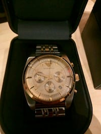 Emporio Armani Classic Gold Dial Stainless Steel B 7274 km