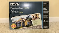 Unopened box- Epson Matte  presentation paper Germantown, 20876