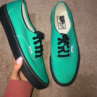 pair of teal Vans low-top sneakers Arlington, 22204