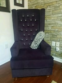 black suede sofa chair with throw pillows 559 km