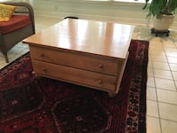 38 inch X 38 inch wood table- two drawers  Ashburn, 20147