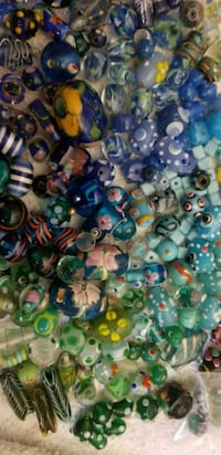 Glass lampwork hand painted beads NEW  Fresno, 93704