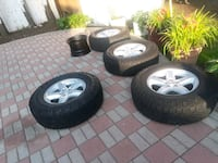 Tires and wheels complete set  Uniondale