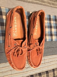 Size 11 Sperry canvas boat shoes