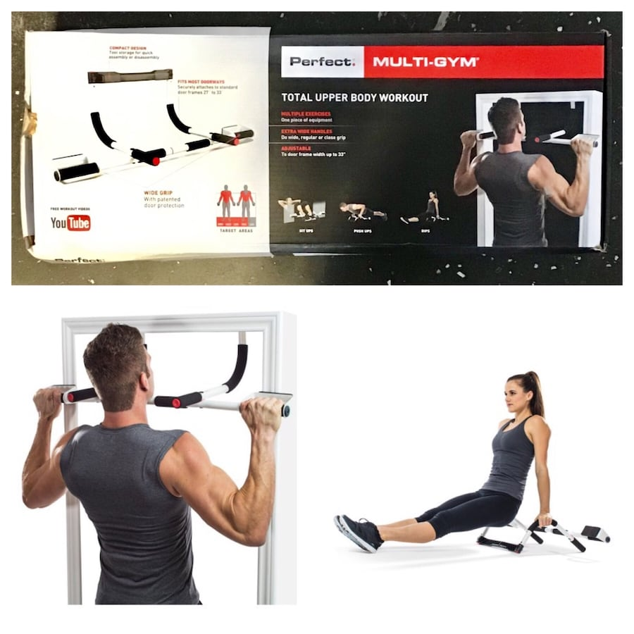 Perfect Fitness Multi-Gym Doorway Pull Up Bar and Portable Gym System.