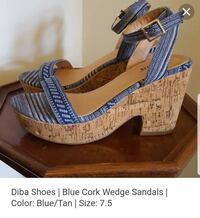 Brown and blue wedge sandals! Size 8 Santa Rosa, 95401