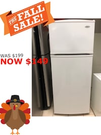 "28"" Whirlpool 18 Cu Ft Top and Bottom Refrigerator  Elkridge, 21075"