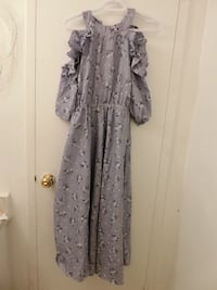women's gray and black floral dress Toronto, M3N 2T2